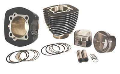 "95"" ci Twin Cam Big Bore 10.25:1 Pistons Engine Motor Kit Black Cylinders Harley"