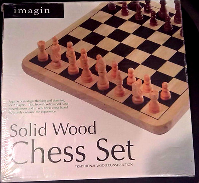Solid Wooden Chess Set - Imagin