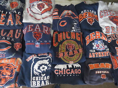 LOT OF 21 CHICAGO BEARS SWEATSHIRTS NFL ADULT SIZES SOME VINTAGE 90s FOOTBALL