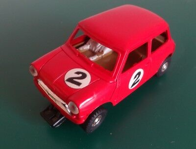 Scalextric C76 Mini Cooper in Red Front Wheel Drive -***SPARES / REPAIR***