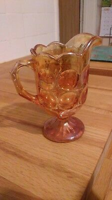 carnival glass milk jug/creamer