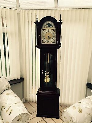 Retro Rare Cherished Grandfather Clock Vgc Nr Lovely Genuine Item Reluctant Sale
