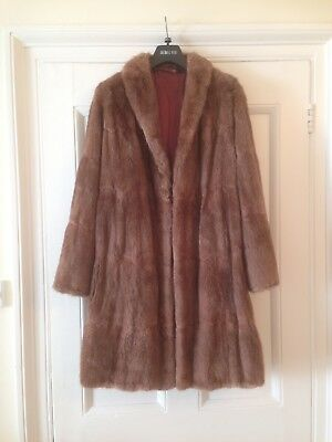 Vintage Ladies Fur Coat Size 12 - Real Fur