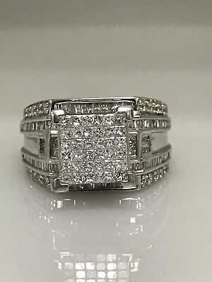 Ladies Diamond Invisible Set 2.00CTW  14K White Gold Ring #3244 CLOSE OUT