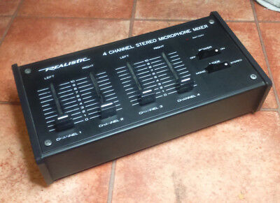 """""""Realistic"""" 4-Channel Stereo Microphone Mixer *** NO RESERVE ***"""