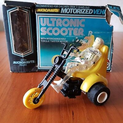 Micronauts Ultronic Scooter with Time Traveller, instructions and box