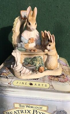 Border Fine Arts Beatrix Potter Figurine - Mrs Rabbit At Work