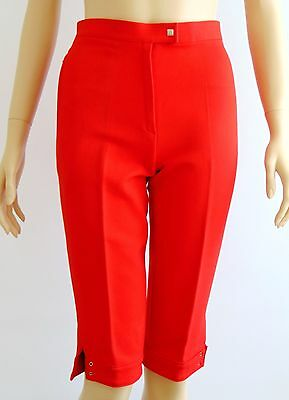 Unused Vintage Braun Helanca Red Cropped Pants 1980s-1990s Size EU38/UK XS-S