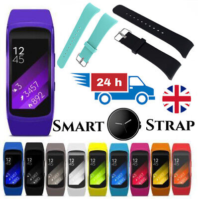 LUXURY Watch Strap for Samsung Gear Fit 2 Replacement Band Bracelet Silicone UK