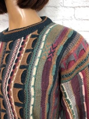 ❤️ Vintage 90's UNISEX Coogi Style Textured Muted Blogger Festival Jumper