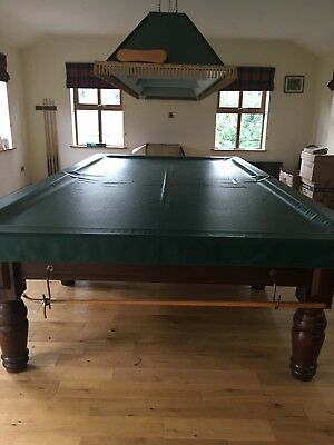 Full Size Snooker Table with cues, scoreboard, light