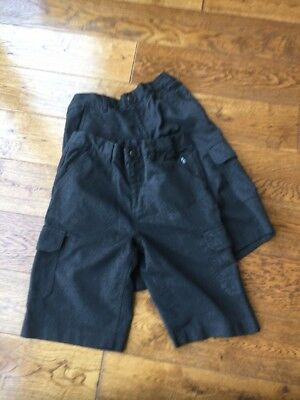 Grey School Cargo Shorts From Next! Age 11!