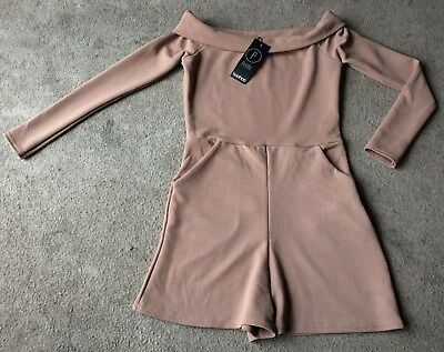 """Ladies Camel Playsuit by """"Boohoo Petite"""" - Size 8 - Brand New With Tags BNWT!!!"""