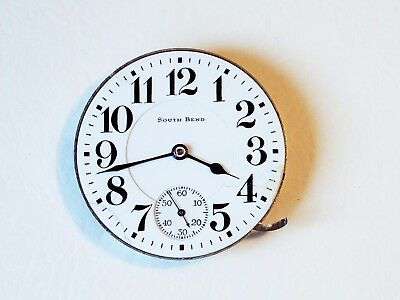 Pocket watch South Bend 16s, 1907, 15 j movement only, running
