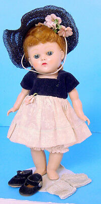 1950s VOGUE GINNY REDHEAD PAINTED LASH STRUNG DEBUTANTE BECKY DOLL #62 SET