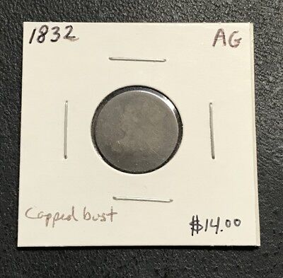 1832 U.s. Capped Bust Dime ~ About Good Condition! $2.95 Max Shipping! C217