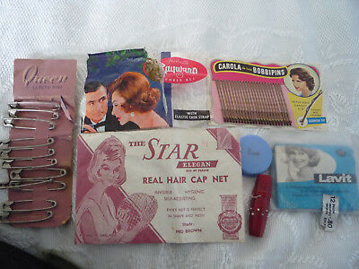 Vintage toiletry items