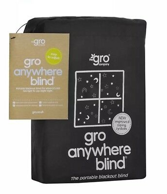 Gro Anywhere Blackout Blind, Star and Moon Print - Attaches Directly To Glass