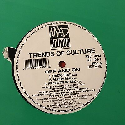 "Trends Of Culture Off & On Lord Finesse 12"" Hip Hop 1993"