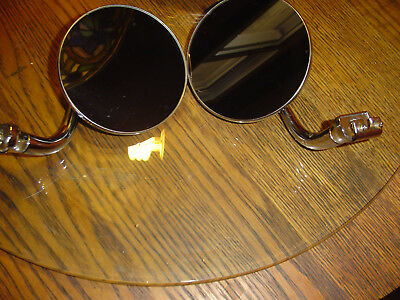 Model A Ford Peep Mirrors - Curved Chrome Arm - Right & Left