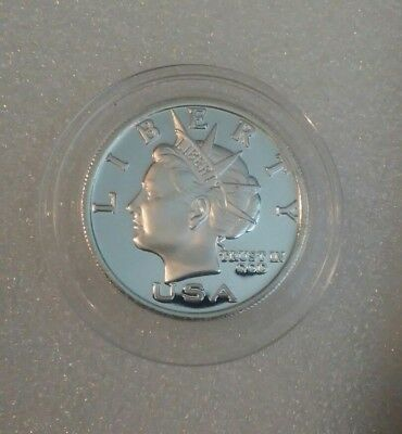 2003 NORFED $5 1/2 oz .999 FINE SILVER LIBERTY Round PROOF EXCELLENT