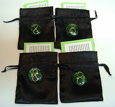 Prosperity Stone Amulet 4 Pieces With Pouch And Instruction Card