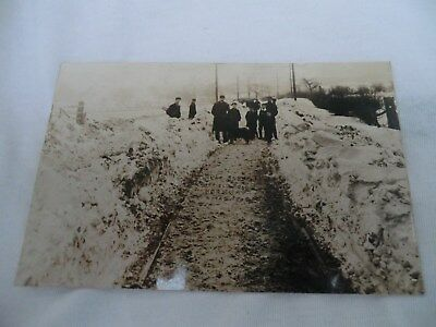 R/p, Postcard, Great Snow Storm 1906, Horbury Nr Wakefield.
