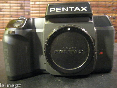Pentax SF10 Auto Focus 35MM SLR Camera Body & Body Cap Working