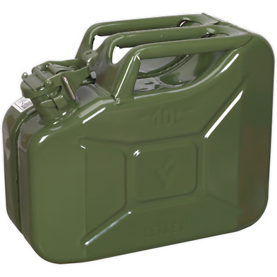 Sealey Metal Jerry Can 10l Green