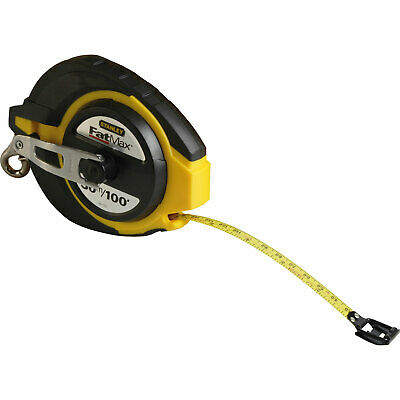 Stanley Fatmax Long Tape Steel Blade Imperial & Metric 30m 9.5mm
