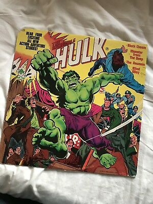 Incredible Hulk Lp Vinyl 1978 Peter Pan Power Records