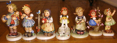 Lot Of 7 Different Girls Goebel Hummel Germany Figurines   Some Club