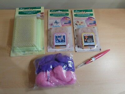 New Clover Needle Felting Applique Molds, Plus Bundle of Felting Items