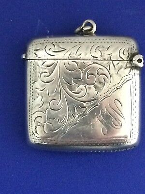 Antique Hallmarked Silver Vesta Case Match Striker Chester 1913 J R Griffin