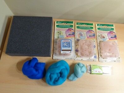 New Clover Needle Felting Applique Molds, Plus Bundle of Felting Items (2)
