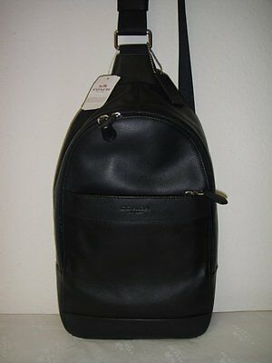 52861a638d2b NWT COACH MENS F54770 - Charles Pack in Smooth Leather Midnight ...