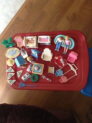HUGE 40 Piece Lot LOVING FAMILY-Dolls-People,Animals,Furniture,Accessories