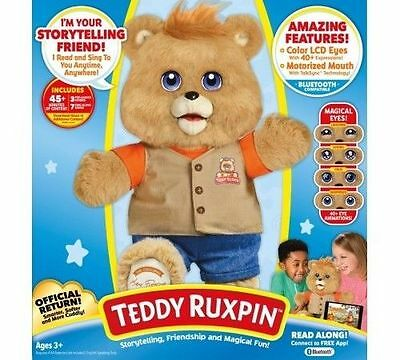 New Teddy Ruxpin 2017 Exclusive Edition Animated Bluetooth Lcd Eyes Reads