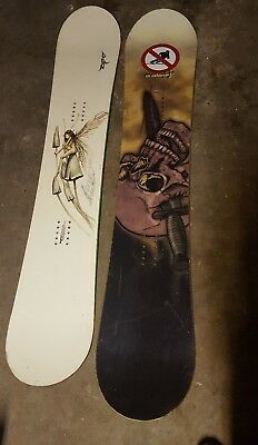 two snowboard 153cm 150cm