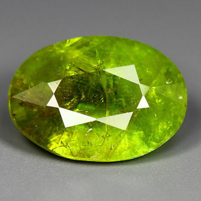 6.14 Cts_World Class Limited Edition_100 % Natural Titanite Green Sphene_Russia