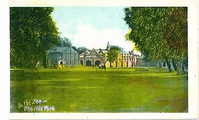 PHEONIX PARK Zoo DUBLIN IRELAND Vintage Irish Made Colour PC c1910