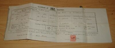 Marriage Certificate H.Phillips To M.Sanderson.Mansfield Woodhouse In 1876