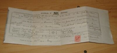 Marriage Certificate For J.Merriman To A.Phillips In 1915 At Mansfield Woodhouse