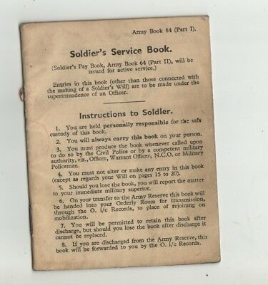 A Soldiers Service Book Issued To P.Merriman 16th Royal Hussars.Dated 1946