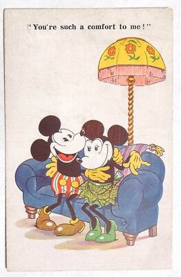 P073. Vintage: Disney MICKEY MOUSE POST CARD Inter-Art COMIQUE (1930) [ UNUSED