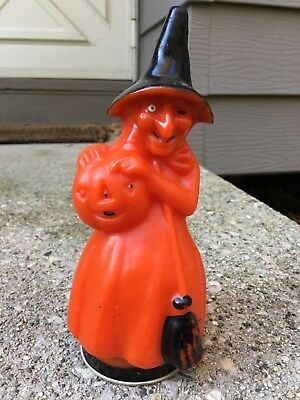Vintage Halloween Fanny Farmer Wax Witch Candy Container