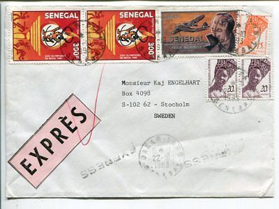 Senegal express cover to Sweden 1993