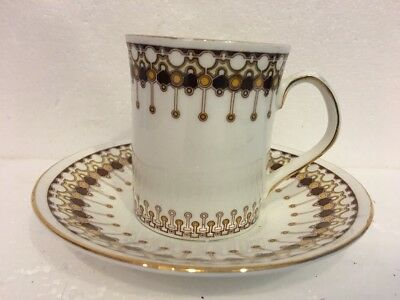 """Elizabethan """"Lace"""" Pattern Fine Bone China Made In England Cup & Saucer Art Deco"""