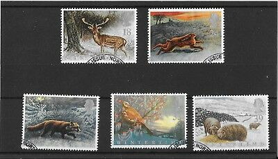 """1992 """"Wintertime - The Four Seasons"""" Stamp Set Used"""