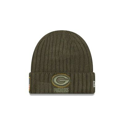 New Era NFL GREEN BAY PACKERS Salute to Service 2017 Authentic Sideline Knit (Wi